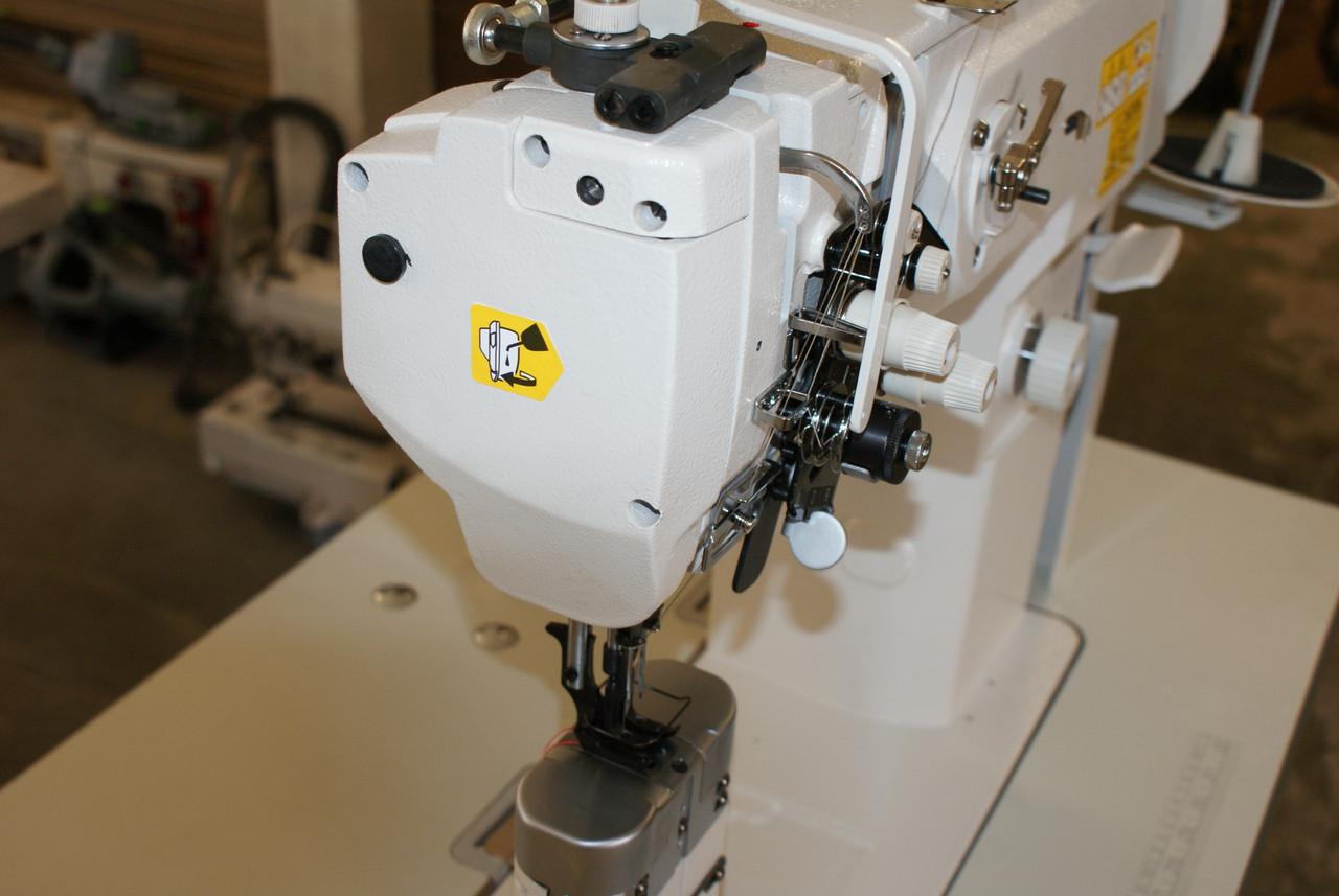 Yamata LU-1765  Double Needle, Walking Foot, Post Bed, SPLIT NEEDLE BAR Machine