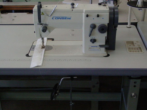 Consew CN2053R-2A   Zig Zag 3 Step  Industrial Sewing Machine W/Table Stand & Servo Motor