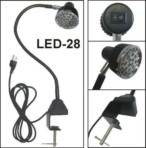 LED - 28 With AC Plug & Mounting Clamp