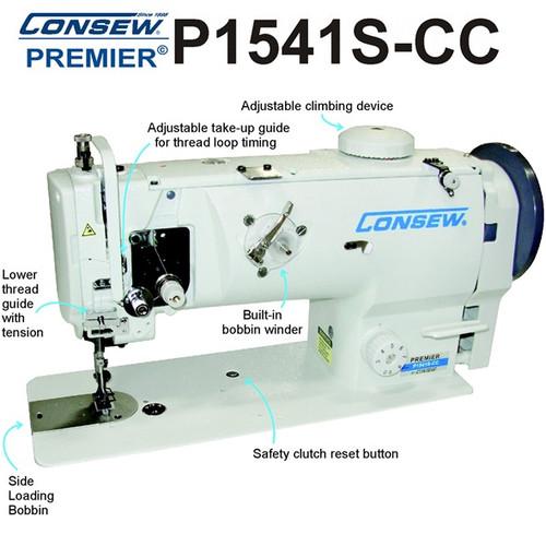 Consew P1541S-CC Drop Feed , Needle Feed , Walking Foot Lockstitch Machine