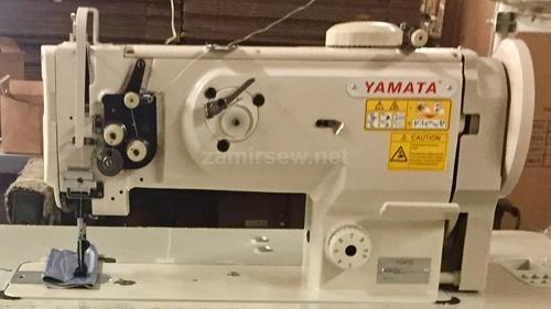 Yamata-1541S-Single-Needle-Walking-Foot-Sewing-Machine W Table Stand & 3/4 HP Servo-Motor-NEW