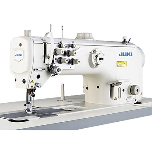 JUKI LU-2860 2 Needle Unison Feed Walking Foot Semi-Dry Lockstitch Industrial Sewing Machine With Table and Servo Motor