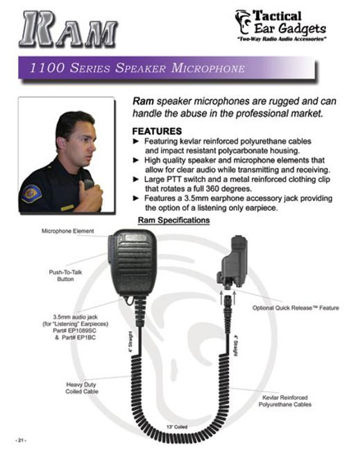 Ram 1100 Series Speaker Microphone