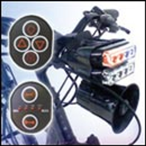 iFORCE Patrol Bike Universal Lights and Siren Kit