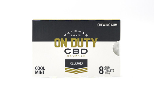 On Duty CBD Gum. A quick refresher to help make it through an event.
