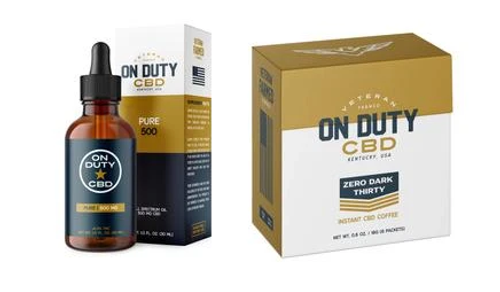 Start your day off the right way with your daily dose of On Duty CBD 500mg Oil and On Duty CBD Zero Dark Thirty instant coffee!