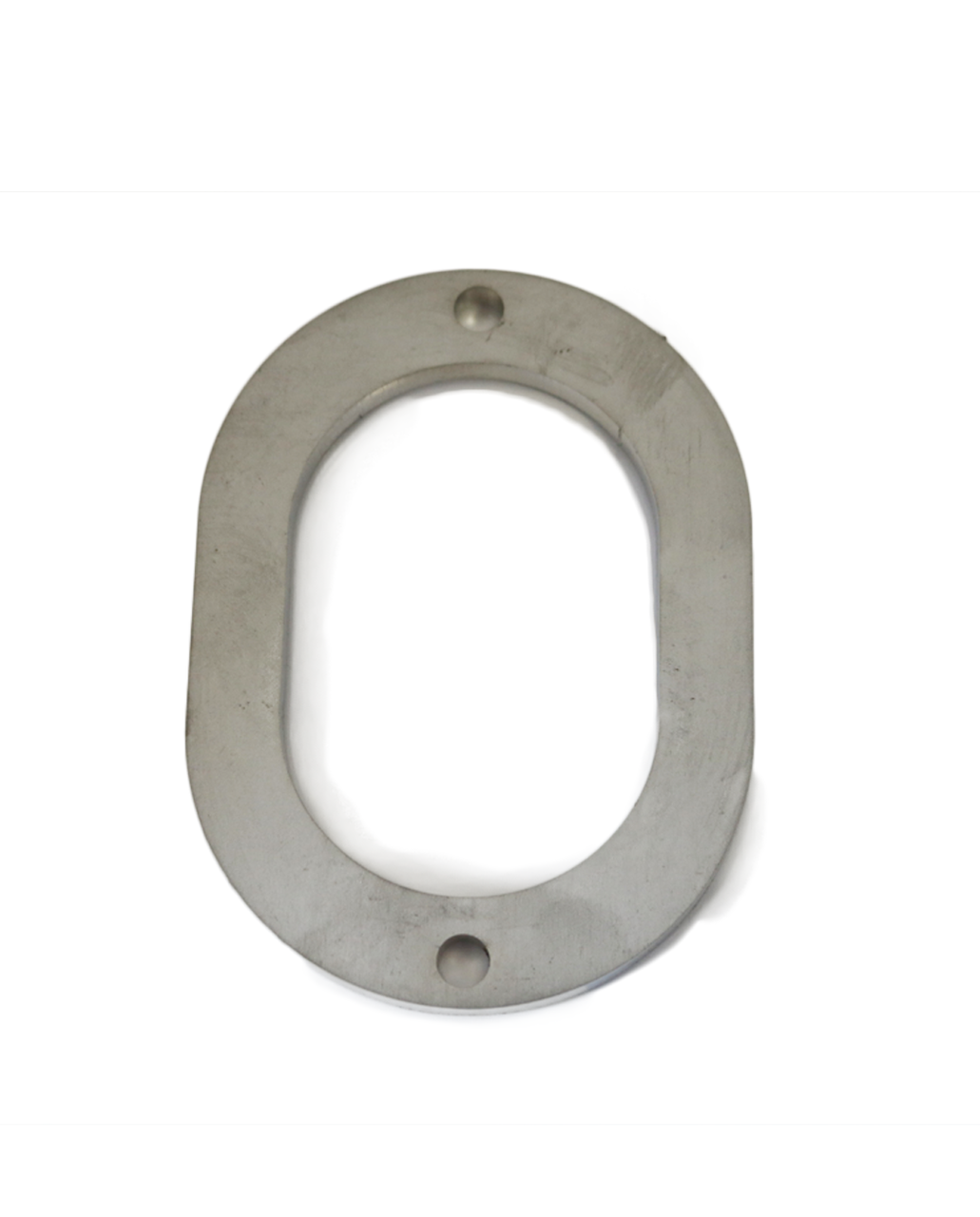 "3"" Oval  Collector Flange, ID 2.47"" x 3.625"", Stainless Steel"