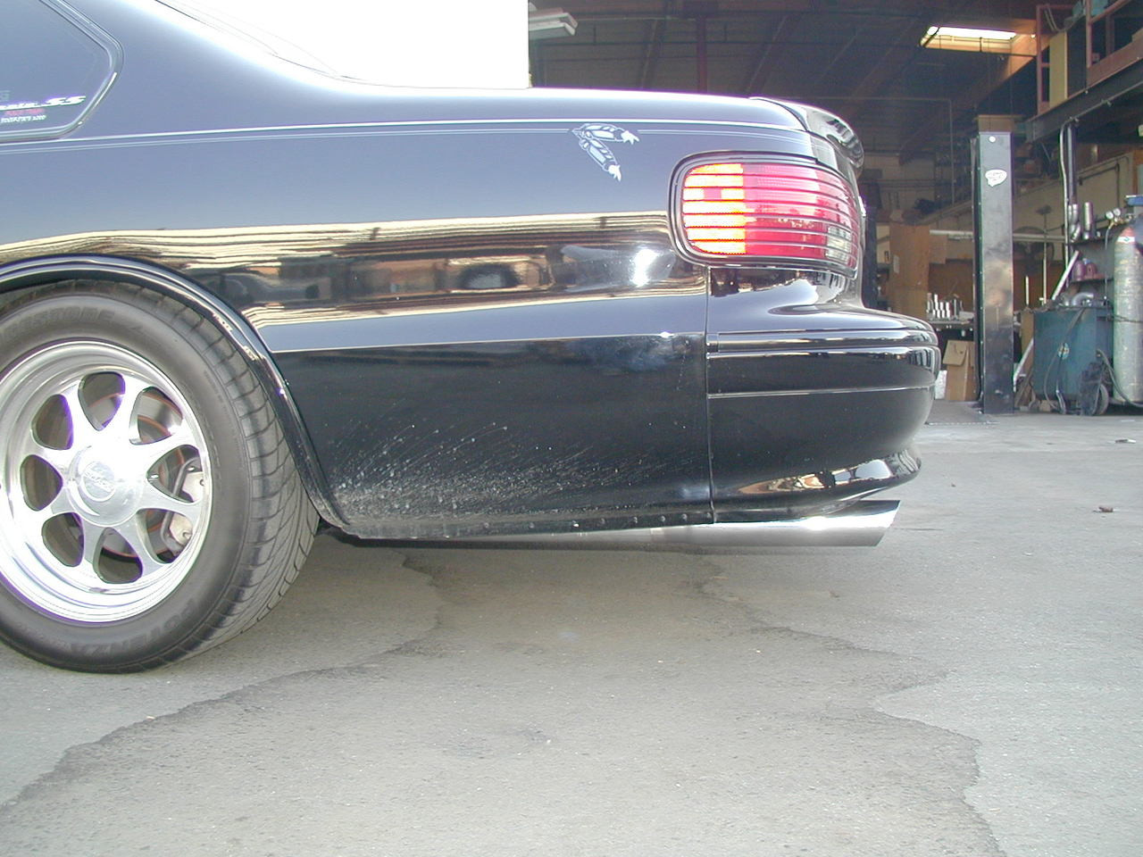 "94-96  Impala 3"" Polished Stainless Steel Slash Cut Tips"