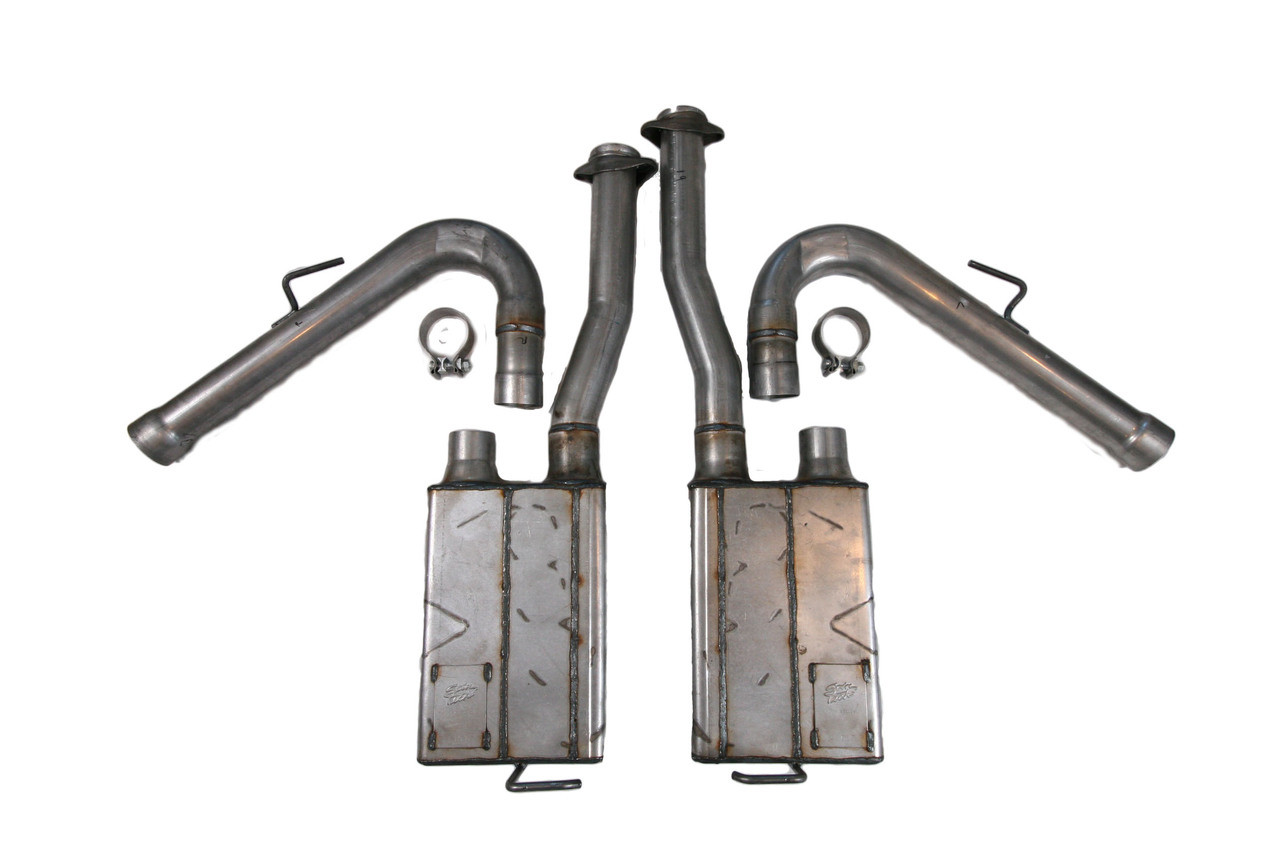 Side Exit System for Roush Mustang, Mufflers, Clamps, Flow Tubes &  Pipes