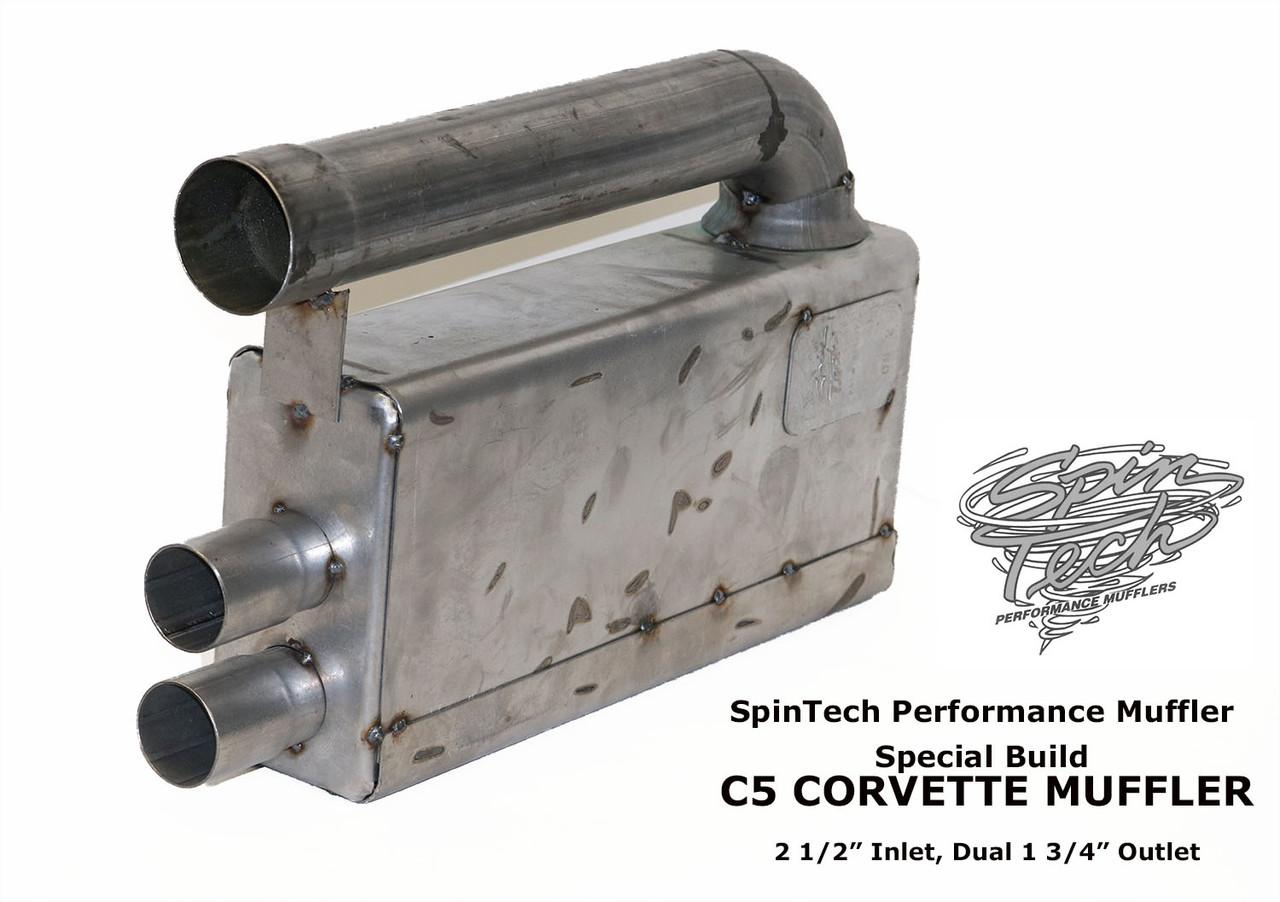 C5 Corvette Muffler, Tac Welded Shown