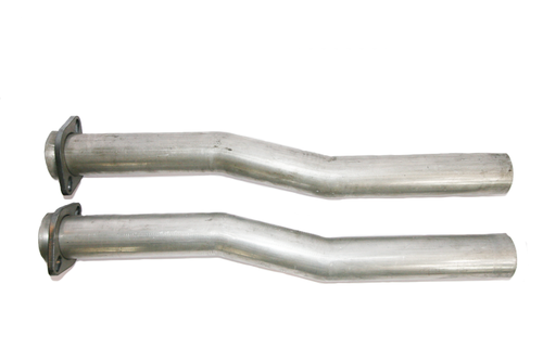 Pair 2 Inch O.D. Steel Exhaust Pipe Mandrel U-Bend