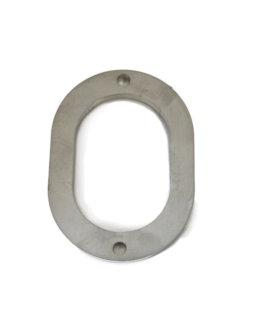 """3"""" Oval  Collector Flange, ID 2.47"""" x 3.625"""", Stainless Steel"""
