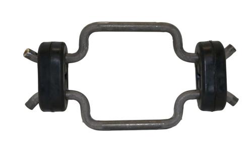 EHDHK - Double Hook Hanger Kit, 2 Double offset Hooks, 2 Rubber Isolators