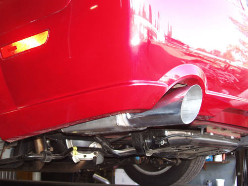 "2005-2010 Mustang Axle back Systems, 4"" Double Wall Stainless Tips"