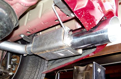 2005-2010 Mustang Axle back Systems, Bottom View SpinTech Super Pro Street 9000 Muffler