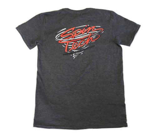 SpinTech T Shirt Dark Gray Back