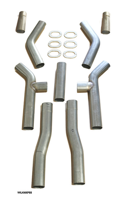 Universal Oval H Pipe Kit Expanded