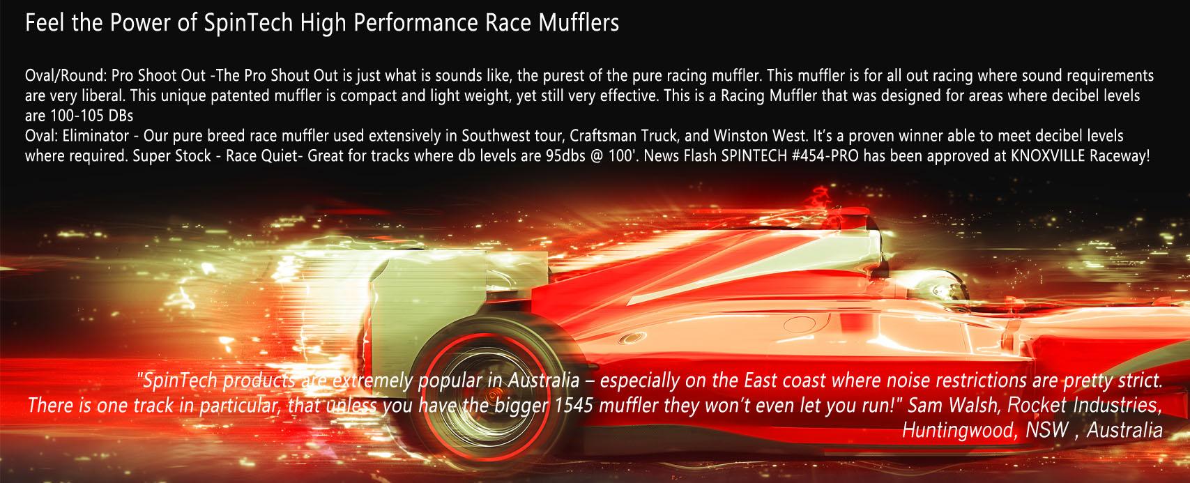 SpinTech Race Mufflers