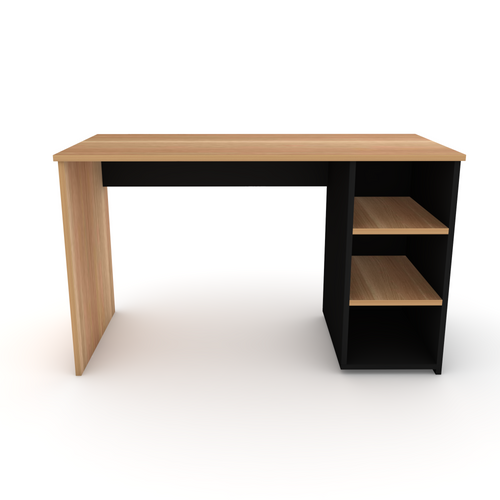 Black and Native Oak Front, Right hand shelving