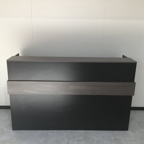 Bavarian Oak and Black Reception desk with drawers