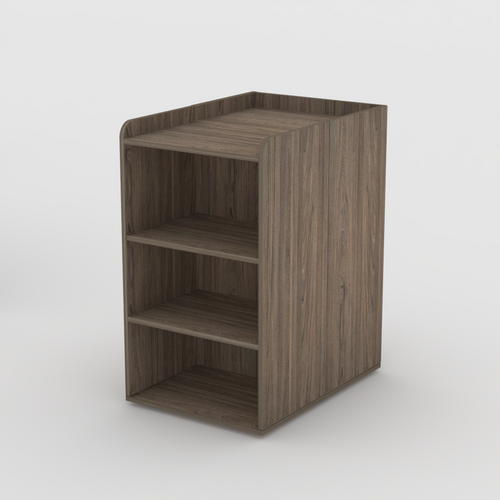 Change table with shelves in Swiss Elm