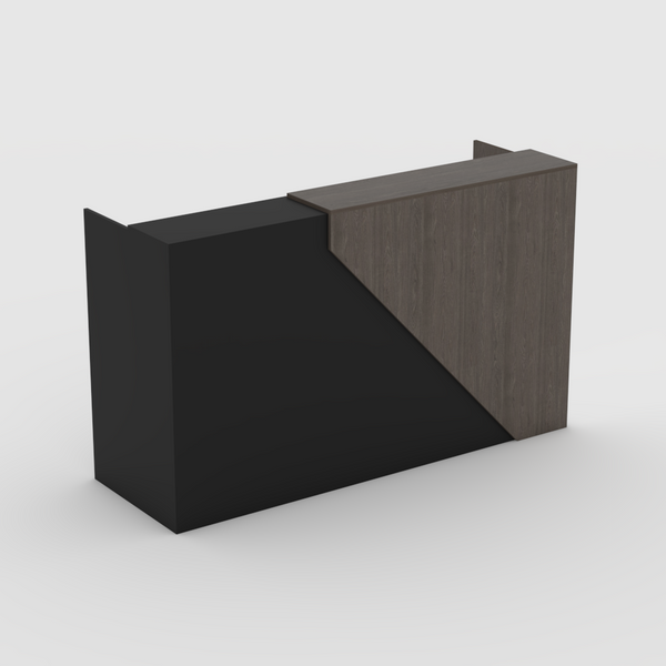 Black with Bavarian Oak Angle Reception Counter