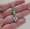 4 Leaf Clover Lucky Charms Token Euro Charms Large Big Hole Beaded Dangle Charm St.Patrick's Day