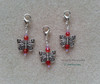 Butterfly Crystal Clip On Dangle Charms for Bracelets Zipper Pull Purse Charm DIY Jewelry Supplies