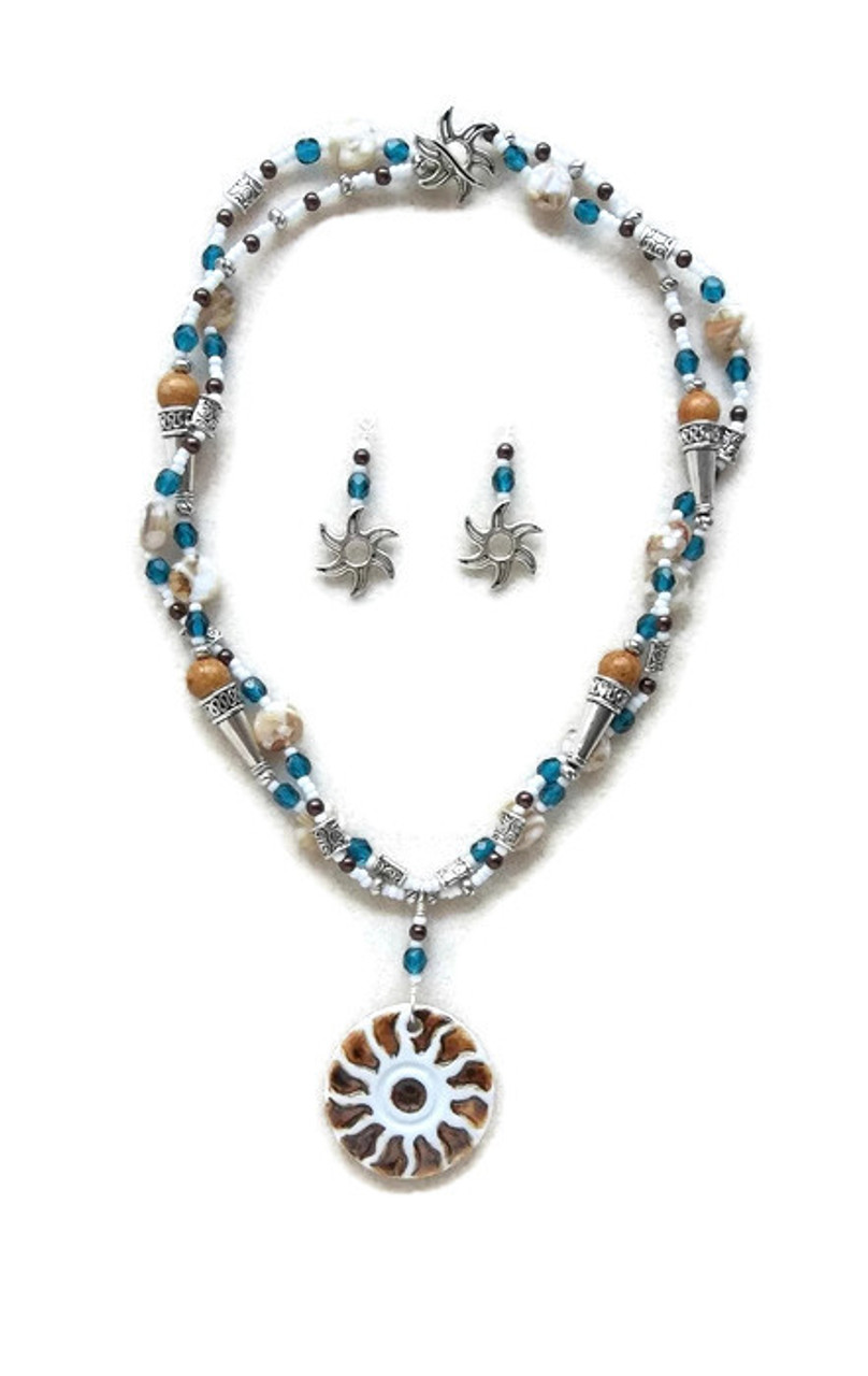 6dfb14e8c2437 Soleil Pendant Double Strand Beaded Jewelry Making Kit Necklace & Earring