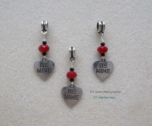 Be Mine Valentine's Day Love Euro Charms  European Dangles