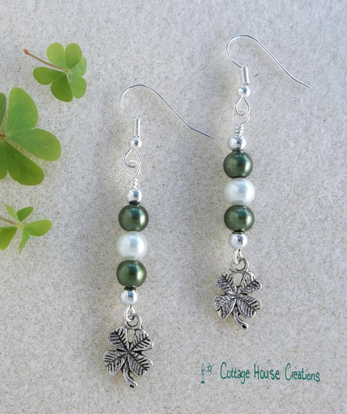 Shamrock Silver Earring DIY Kit