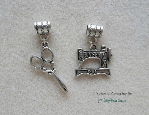 Sewing Quilter's  Charms European Dangles for Bracelets