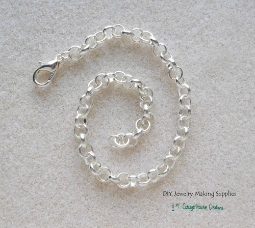 Bracelet Blank for Clip-On Charms and Euro