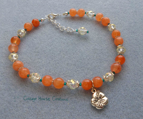 Hibiscus Flower ~ Jewelry Making Anklet Bead Kit