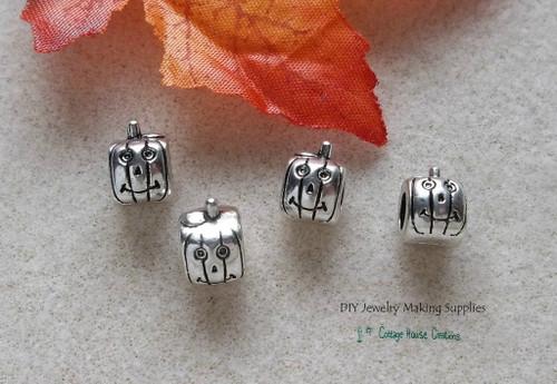 Halloween Pumpkin Jack O Lantern Beads for European Bracelets and Jewelry Making Beads
