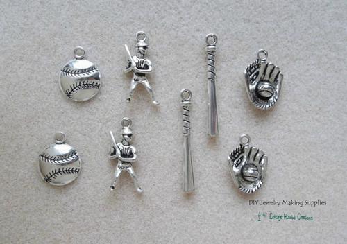 Baseball DIY Charms 8pc set