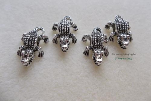 Alligator Crocodile Reptile Large Big Hole Paracord Bracelet DIY Jewelry Making Bead
