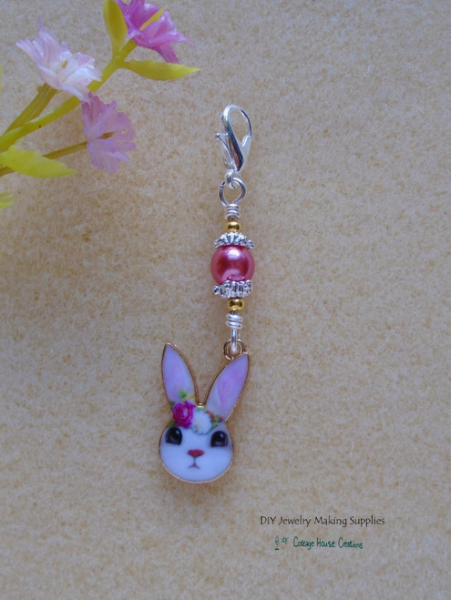 Sweet Bunny Girl Clip On Charm