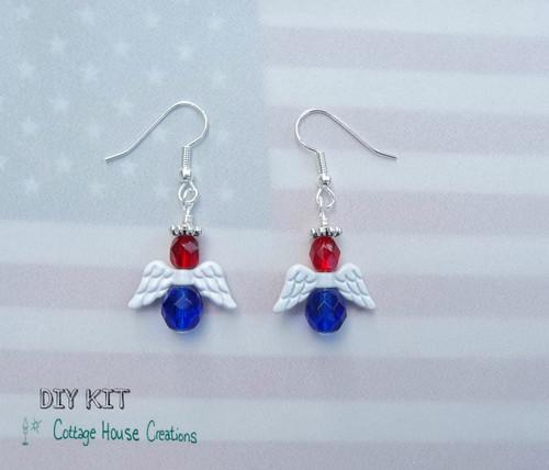 Patriotic Angel Earring Kit