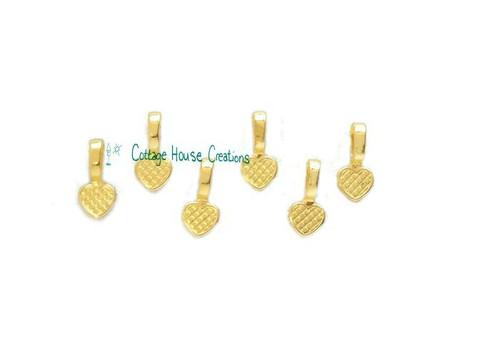 Gold Glue on Heart Bail