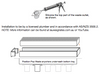 Aluminium Lauxes Linear Grates Grill Wide Style  - Installation Guide