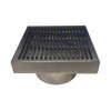 Wedge Wire Floor Grate 200mm x 200mm x 32mm 88mm Outlet
