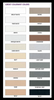 Aqua Mix Grout Colourant Chart