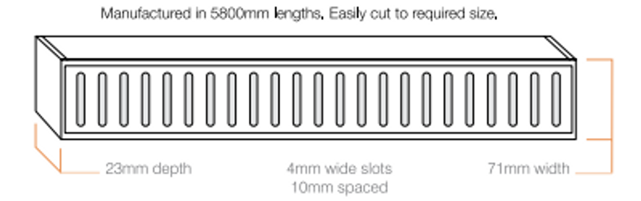 Aluminium Lauxes Linear Grate Grill Style  - Image