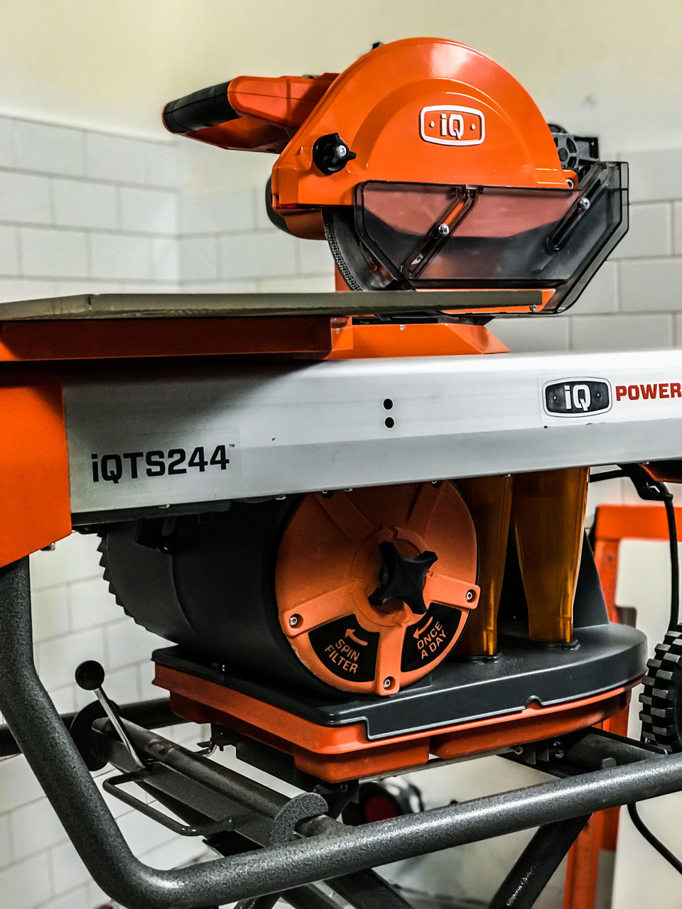 iQTS244 Dry Cut Tile Saw + Blade & Stand