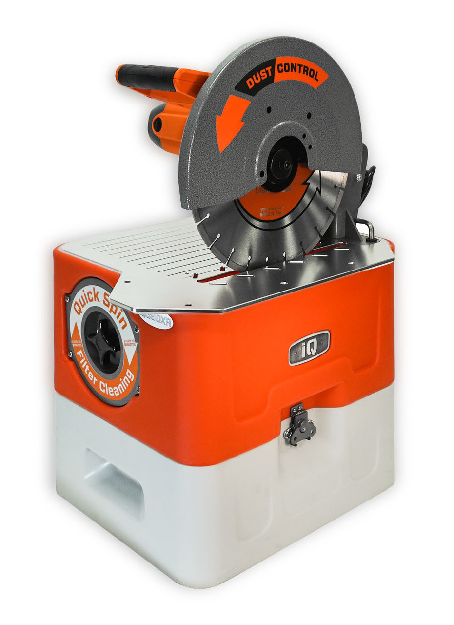 Dustless Masonry Dry Cutting Saw iQ360XR With Blade