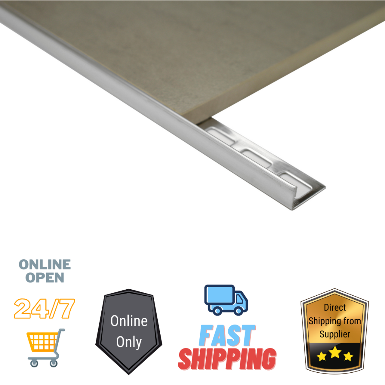 Aluminium Tiling Angle  (Punched + Mill Finish 3.0M)
