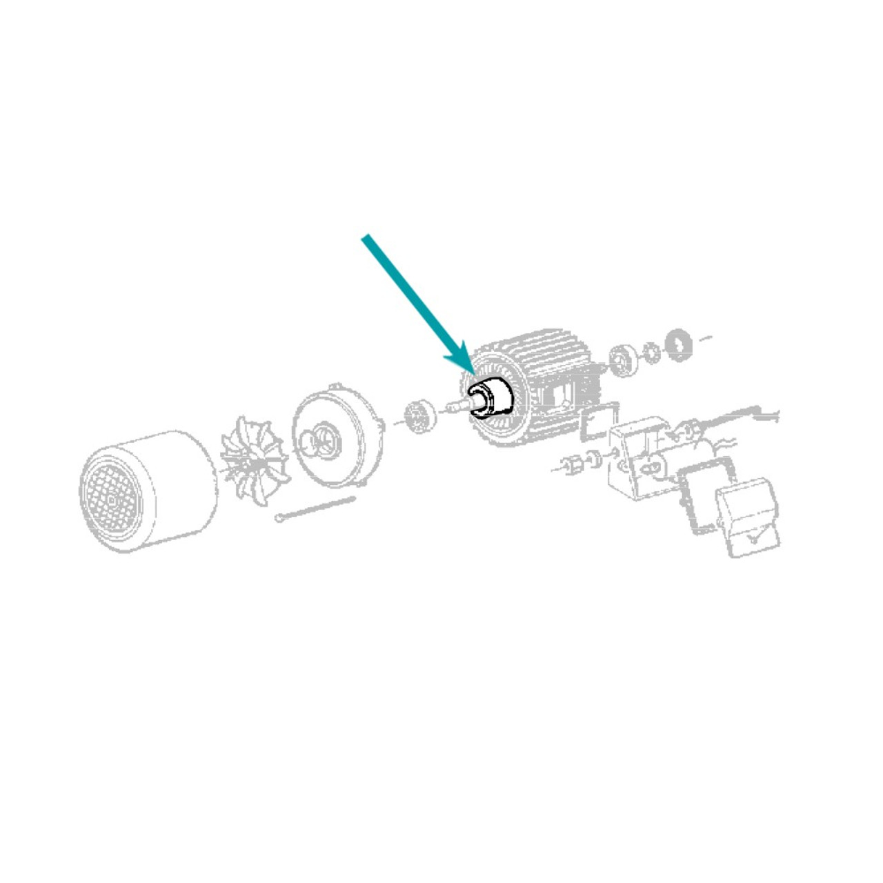 Imer Spare Part Mix 120 Gear Box Rotor