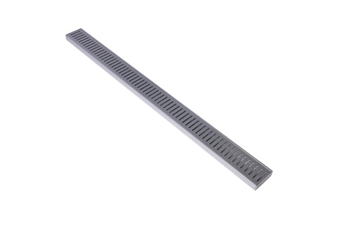Aluminium Lauxes Linear Grate Grill Standard Size - Brushed Silver