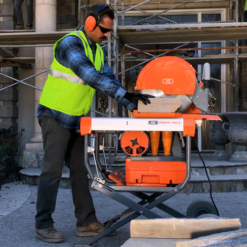 Dustless Masonry Dry Cutting Saw iQMS362 With Blade